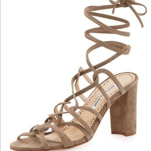 Manolo Blahnik Jena Lace-up Sandal